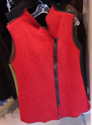 Dana Davidson red wool vest