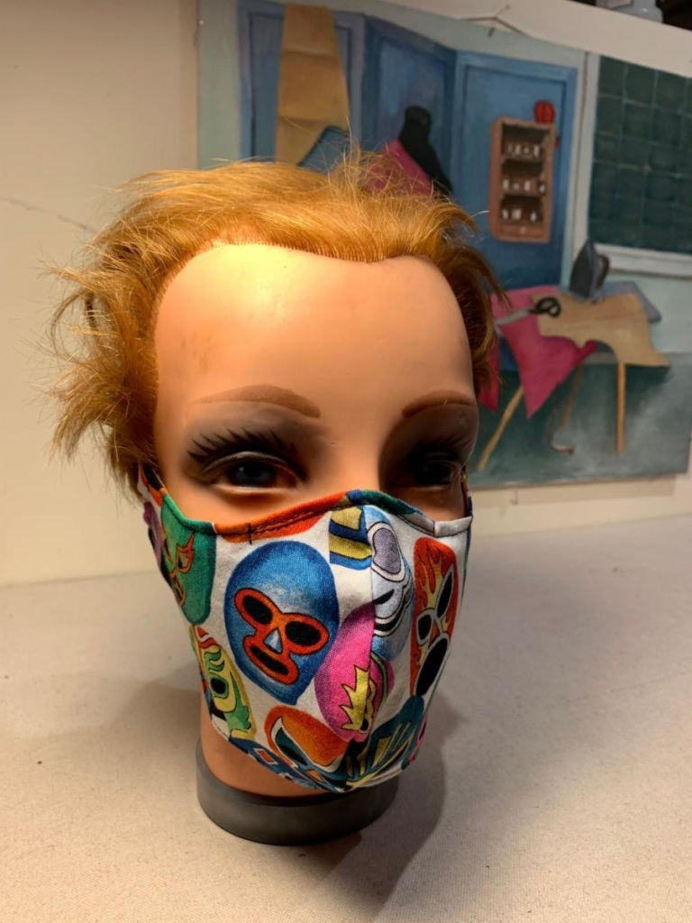 Mexican Wrestler mask by Dana Davidson
