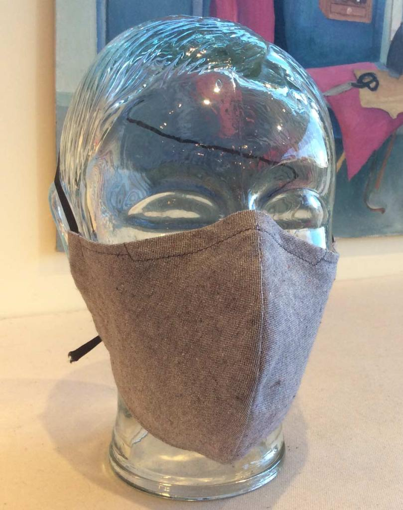 New grey tweed mask